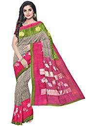 Sakhi Womens Blended Tussar Saree_ISRO-14085_Multi-coloured_Free Size