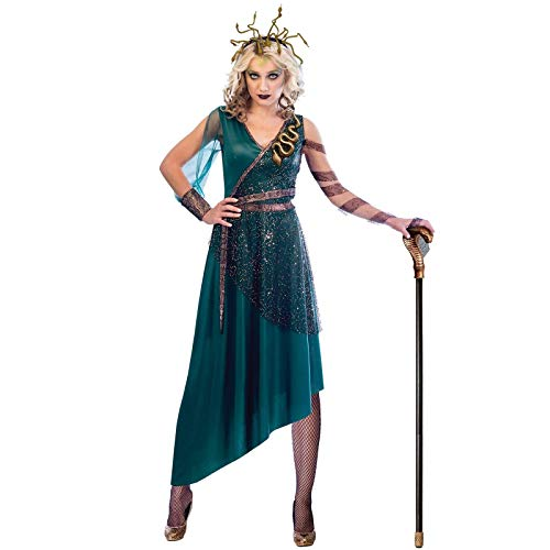 c53284548b8c Fancy Dress VIP Express UK 12-14 Adult Ladies Greek Mythology Medusa  Monster Gorgon Serpent