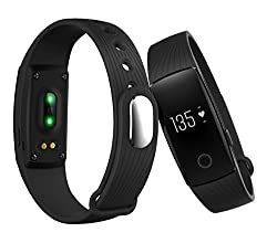 Gixmo SW-009 Black Bluetooth Smart Band and fitness tracker and heart rate sensor for Android/IOS Mobile Phones compatible with Samsung IPhone HTC Moto Intex Vivo Mi One Plus and many others! Launch Offer!!