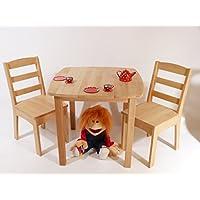 Kinder-Möbel-Set 8018 - Tisch / Stühle - Kindergarten-Möbel Massivholz - robust preisvergleich bei kinderzimmerdekopreise.eu