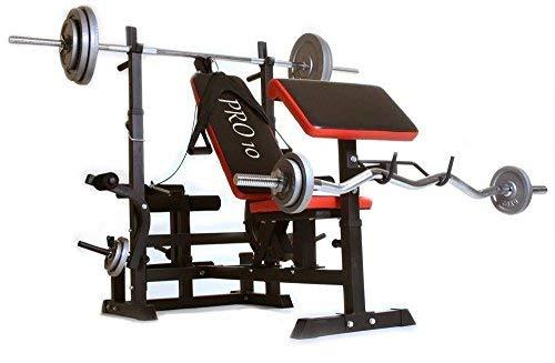 Pro10 • Banco musculación multifuncion con pupitre para bíceps.