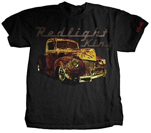 Redlight King - Truck Logo T-Shirt M - Schwarz (Raceing Car)