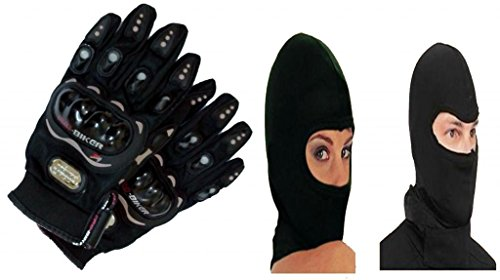 combo offer p-biker gloves black l & premium quality full face mask balaclava black Combo Offer P-Biker Gloves Black L & Premium Quality Full Face Mask Balaclava Black 41iOutuTpdL