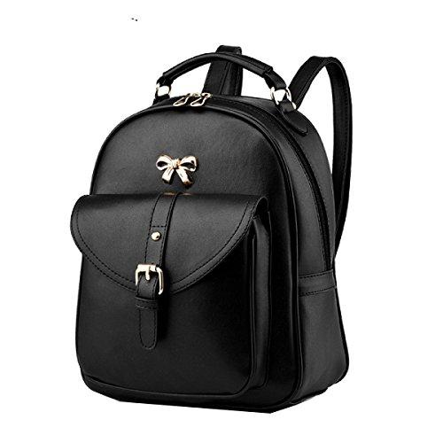 Yy.f Neue Schulterhandtaschen Mode-Taschen Temperament Beiläufige Rucksäcke Schultaschen Schultern Einfach Mehrfarbige Beutel Black