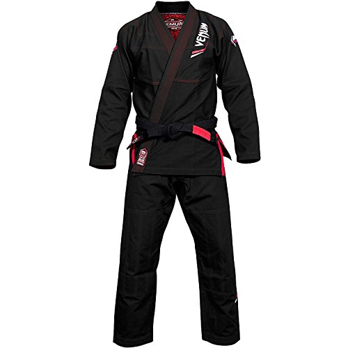 Venum elite light kimono per jiu jitsu brasiliano uomo, uomo, elite light, nero