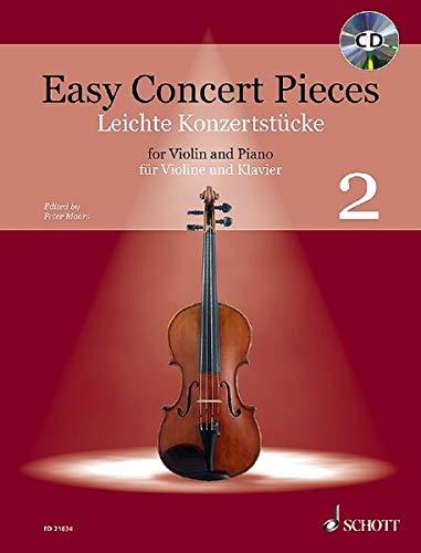 Easy Concert Pieces: Band 2. Violine und Klavier. Ausgabe mit CD.