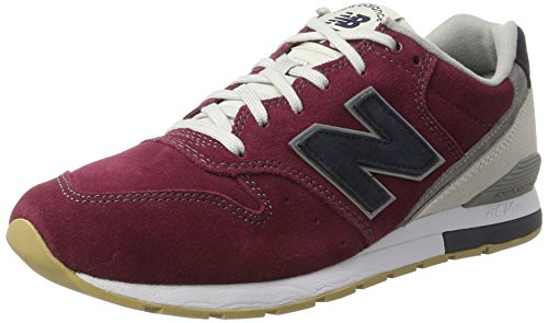 New Balance 996 Suede Formatori Uomo Rosso Burgundy with Navy 44.5 A6I