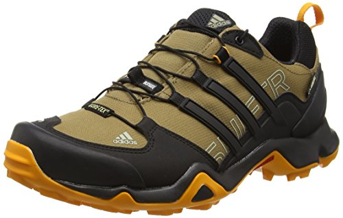 adidas Herren Terrex Swift R Gtx Trekking-& Wanderhalbschuhe, Eqt Blue Core Black Braun (Earth S16/Core Black/Eqt Orange S16)