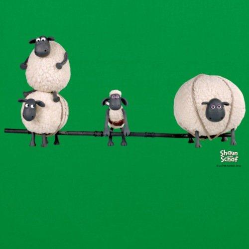 Spreadshirt Shaun La Borsa Di Stoffa Delle Pecore Kelly Verde