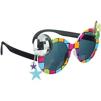 P Prettyia Nouveaut/é Paillettes Argent Star en Forme De Lunettes De Soleil Adultes Enfants Party Eye Lunettes Costume