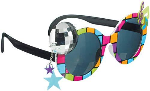 amscan 250487-55 Spaß-Brille Disco 70er, Mehrfarbig