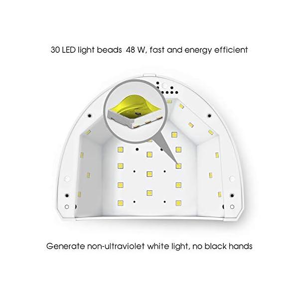 Matifi Lámpara Ultravioleta para secado de uñas. 48W. Tecnología UV LED. Ideal para uñas de gel y todo tipo de manicura…