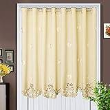 BGAOYUHUA Trennvorhang Blackout Türvorhang für Privatsphäre, Elegance Soft Tür Fenstervorhang, Lichtfiltervorhang Panel Cafe Half Curtain,A1_150*150cm