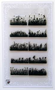 Meadow and Grass Borders Clear Stamps Set by Flonz