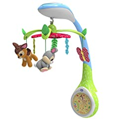 Idea Regalo - Chicco- Giostrina di Bamby-Disney Baby, Multicolore, 00007156000000
