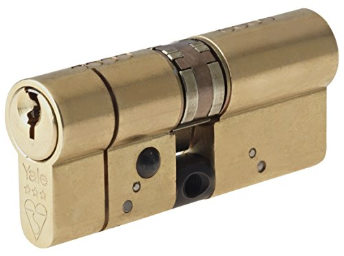 Yale Locks YALASP4040B 80 mm Polished Brass Anti-Snap Platinum Euro Cylinder