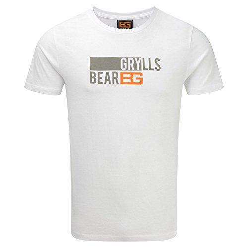 Craghoppers Herren Bear Grylls Printed T-Shirt Shirt, Sport Blue, S Rot - Chilli