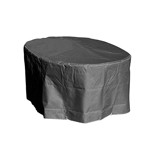 GREEN CLUB Housse de Protection Table Ovale de Jardin Haute qualité Polyester L180 x l 110 x h 70 cm Couleur Anthracite