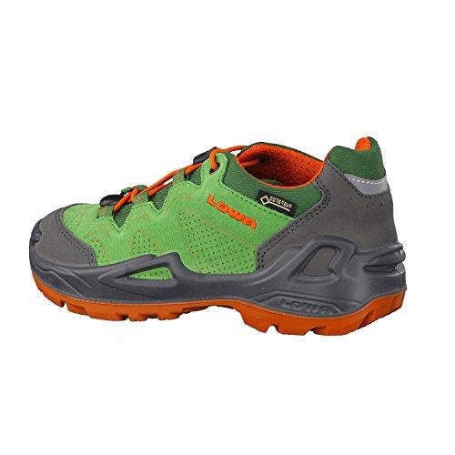Lowa Diego GTX Lo, Stivali da Escursionismo Alti Unisex – bambini Verde/Arancione
