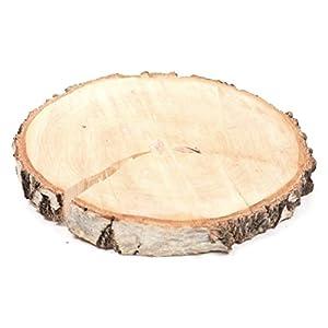Dicke Birkenscheibe BIRCH SLICE – rund – 20-26 cm – Holzscheibe – Baumscheibe