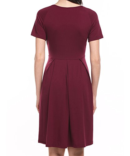 Vessos -  Vestito  - linea ad a - Donna Wine Red