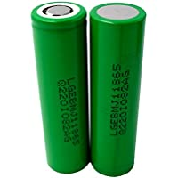 2X LG INR18650-MJ1 Akku 3500mAh 3,7v Lithium-Ionen Batterie - Ideal für Sub-Ohm Dampfer E-Zigarette Flat Top Flachpol, Menge: 2 Stück