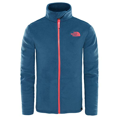THE NORTH FACE Snow Quest Full Zip Roundneck Jacket Youths Blue Wing Teal Kindergröße XL | 170-175 2018 Funktionsjacke North Face Snow