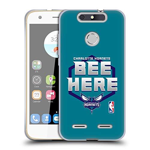 Head Case Designs Offizielle NBA Hornets Buzz City 2018/19 Team Slogan Soft Gel Huelle kompatibel mit ZTE Blade V8 Lite -
