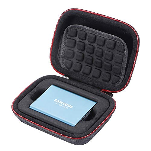 Coque Rigide pour Samsung T5 / T3 / T1 Portable 250 Go, 500 Go, 1 to, 2 to, SSD USB 3.0, Disques SSD externes, Sac de Rangement - Noir