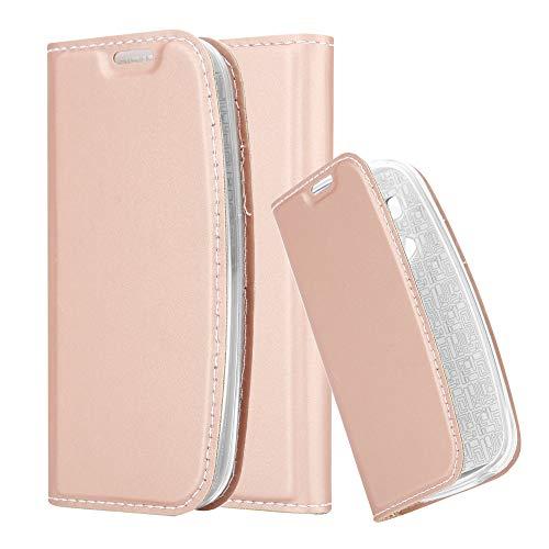 Cadorabo Custodia Libro per Nokia 3310 in Classy Oro Rosa - con Vani di Carte, Funzione Stand e Chiusura Magnetica - Portafoglio Cover Case Wallet Book Etui Protezione