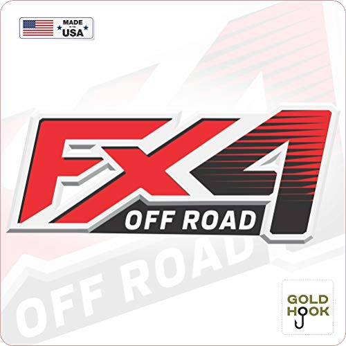 GOLD HOOK Aufkleber für Ford F150 FX4, Off-Road-Aufkleber, 2 Stück, goldfarben