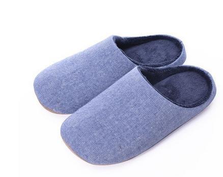 Indoor pantofole mute, in autunno e inverno, uomini e donne a casa casa pantofole di cotone morbido fondo , men blue men blue