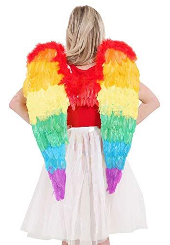 ancy Neuheit Fairy Wings Damen Bumblee Bee Hen Party Supplies Zubeh�r (Rainbow Faltbare Angel Wings) Large (80x60cm) ()