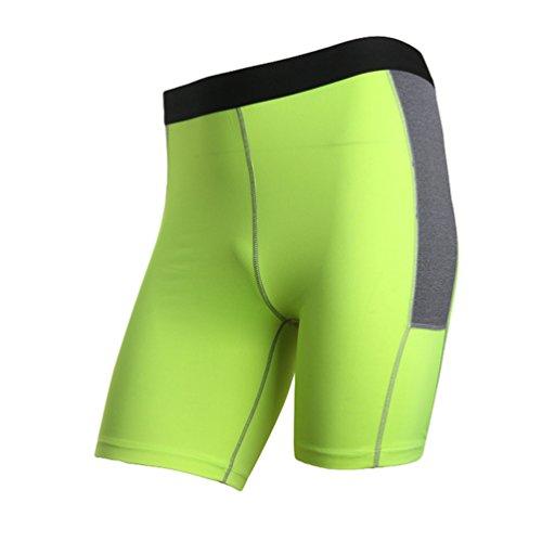 Byqny Herren Funktionswäsche Base Layer Hose Kurz Strumpfhose Fitness Tights Cold Kompressionsshorts Thermisch Farbabstimmung Shorts -