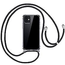 opamoo Custodia Compatibile con iPhone 12 mini 5.4 Pollice,Custodia con Cordino Compatibile con iPhone 12 mini Trasparente Silicone TPU Cordoncino Case Regolabile Flessibile Antiurto Silicone Custodia