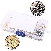 Zeen - Juego de tornillos hembra de latón M2 con caja de plástico PCB (270 unidades)