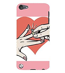 99Sublimation Engagement Ring 3D Hard Polycarbonate Back Case Cover for Apple iPod Touch 5