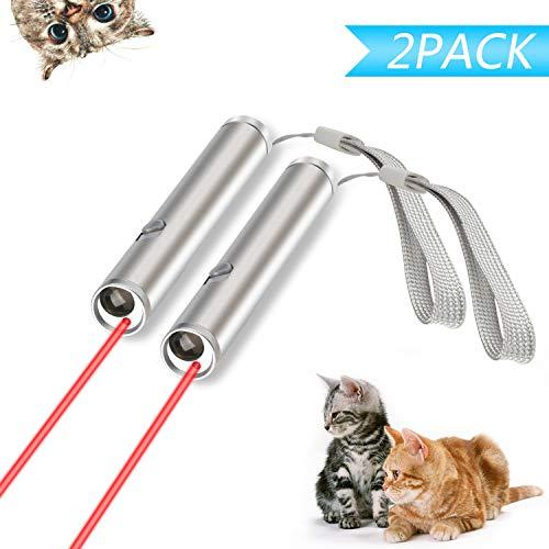 Xpassion Juguetes de Gatos, Gato Captura Juguetes de Entrenamiento Incluyendo Bateria(2 Unidades)