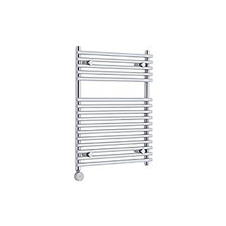 KUDOX Chrome 750mm x 6000mm Electric Flat Bar on Bar Heated Towel Rail