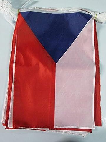 CZECH REPUBLIC 12 meters BUNTING FLAG 20 flags 18'' x 12'' - CZECH STRING flags 30 x 45 cm - AZ FLAG