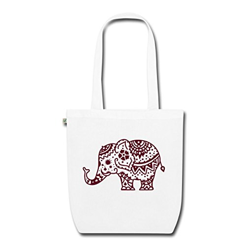 elephant-henne-sac-en-tissu-biologique-de-spreadshirtr-blanc