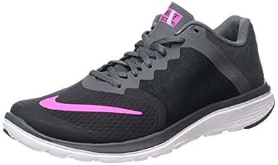 Nike Women's FS Lite Run 3 Black/Pink Blast/Dark Grey/Wht Running Shoe 6 Women US