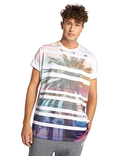 Just Rhyse Herren T-Shirt Cabanillas Oberrteil mit gestreiftem Palmenmuster