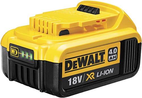 DeWalt Ersatz-Akku 18,0 Volt/ 4,0 Ah XR Li-Ion (kompatibel mit allen 18,0 Volt XR Akku-Maschinen von DeWalt, LED Akku Ladestandsanzeige), DCB182 - Akku-ladegerät 18v Dewalt