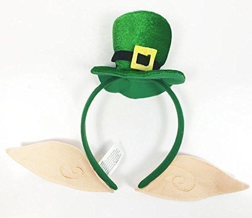 Haarreif St. Patricks Day Irisch Haarreif Mit Ohren Hut Leprechaun Heinzelmännchen Verkleidung Party (S Patrick St Stirnbänder Day)