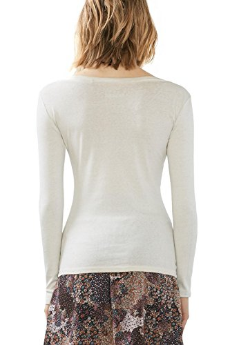 edc by ESPRIT Damen T-Shirt Grau (Ice 055)