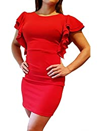big sale 5bbe0 074d6 Amazon.it: Tubino Vestito - Rosso / Gonne / Donna: Abbigliamento
