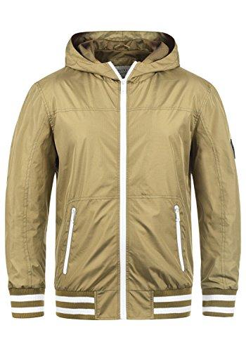 Blend Novan Herren Übergangsjacke Herrenjacke Jacke mit Kapuze, Größe:L, Farbe:Safari Brown (75115)