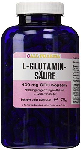 Gall Pharma L-Glutaminsäure 400 mg GPH Kapseln 360 Stück