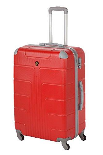 Coque Rigide Valises New York 2 pièces taille L + XL, 65 + 75 cm, 68 + 110 L 10 couleurs différentes Rouge rot L+XL